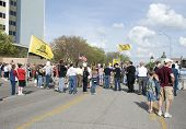 Wichita, Kansas - April 15: Tea Party Members Gather, April 15, 2010 In Wichita Ks.