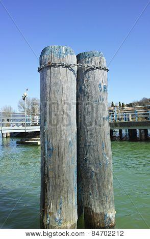 Pylon In Trasimeno Lake