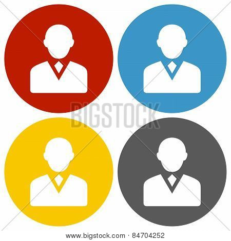 Circle Series Businessman Icon