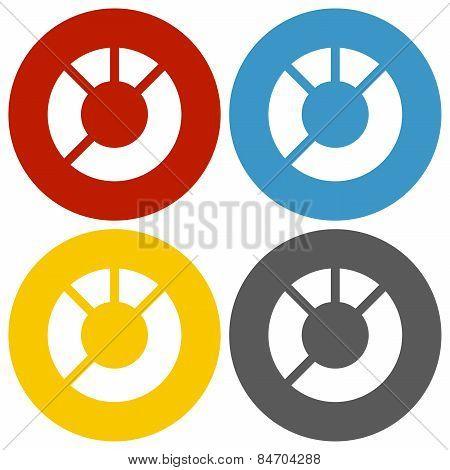 Circle Series Donut Chart Icon