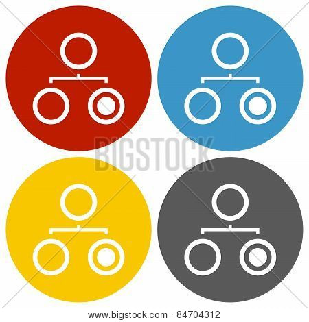 Circle Series Hierarchy Icon