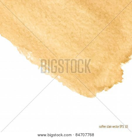 coffee stain background  square.