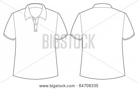 front and back view of white shirt