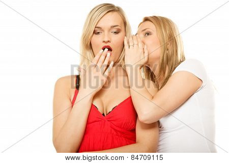 Gossip Rumour Woman Telling Secrets To Your Girlfriend