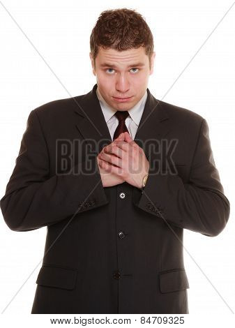 Desperate Man Asking Forgiveness Beseeching Help
