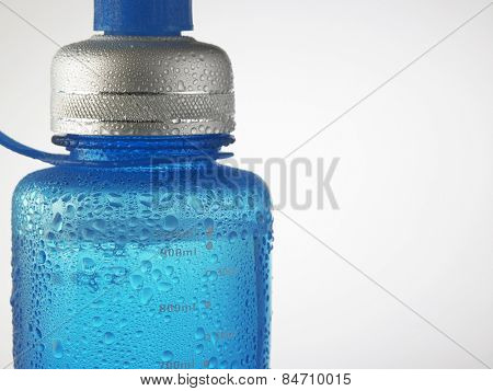 water drops on water bottle
