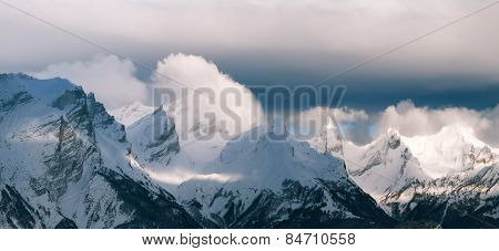 Panorama landscape mountain alps