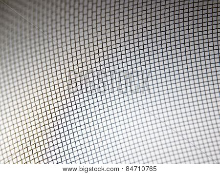 texture of the wire of the kitchen ware sieve