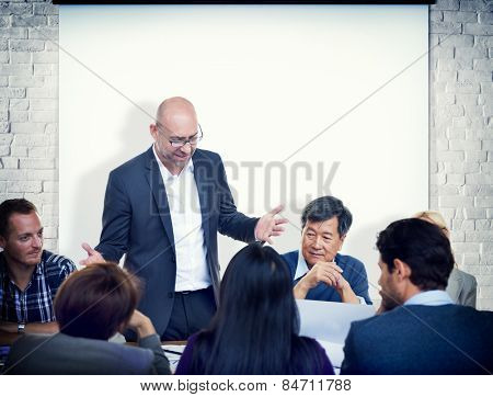 Corporate Business People Meeting Team Concept