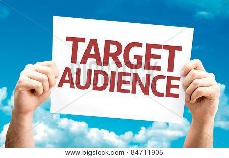 Target Audience card with sky background