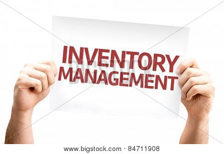Inventory Management card isolated on white background