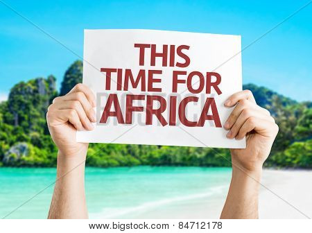 This Time for Africa card with beach background