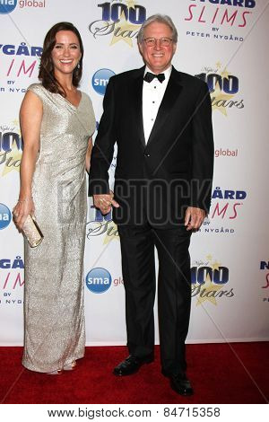 LOS ANGELES - FEB 22:  Verena King, Bruce Boxleitner at the Night of 100 Stars Oscar Viewing Party at the Beverly Hilton Hotel on February 22, 2015 in Beverly Hills, CA