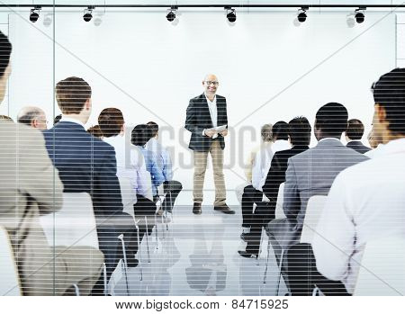 Business People Meeting Seminar Conference Audience Team Concept