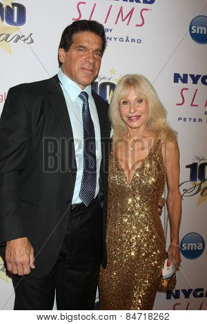 LOS ANGELES - FEB 22:  Lou Ferrigno, Carla Ferrigno at the Night of 100 Stars Oscar Viewing Party at the Beverly Hilton Hotel on February 22, 2015 in Beverly Hills, CA