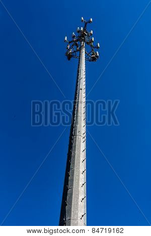 High-Tech Sophisticated Electronic Communications Tower.