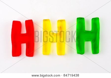 Gummy Letters H