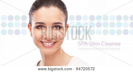 Skin Care And Face Cleansing Banner