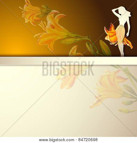 Spring flowers invitation template card. Wedding, marriage, bridal, birthday, Valentine's day. International women's day. Vector
