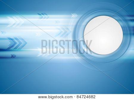 Hi-tech blue background. Vector design