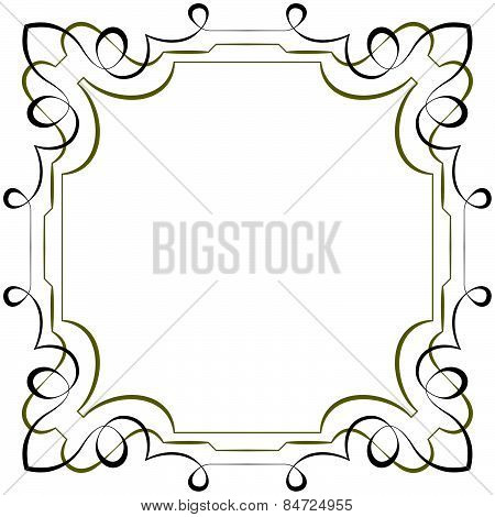 Vector Elegant Square Multilayer Frame On White