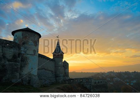 Old Fortress in the Ancient City of Kamyanets-Podilsky, Ukraine