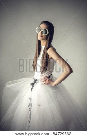Tulle and sunglasses