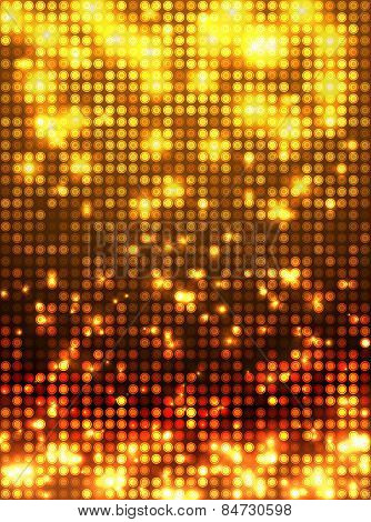 Gold disco mosaic background