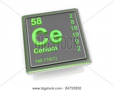 Cerium. Chemical element. 3d