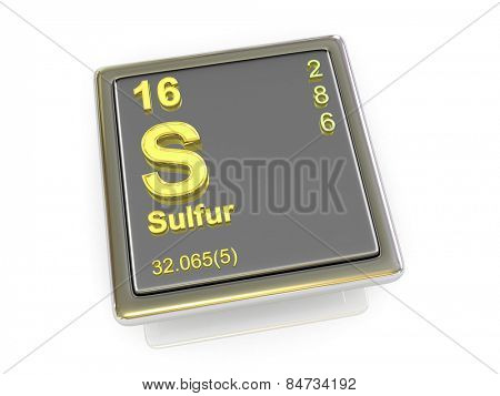 Sulfur. Chemical element. 3d