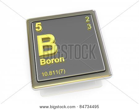 Boron. Chemical element. 3d