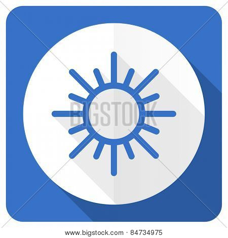 sun blue flat icon waether forecast sign