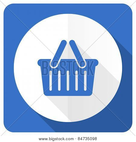 cart blue flat icon shopping cart symbol