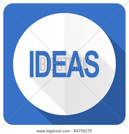 ideas blue flat icon