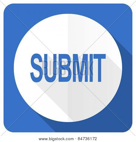 submit blue flat icon