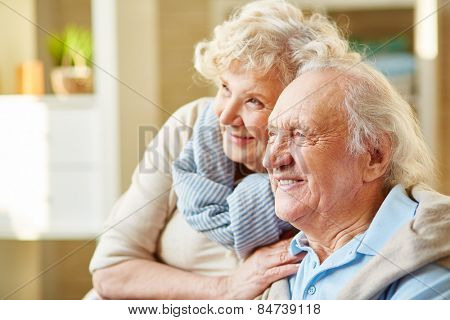 Happy and devoted senior couple