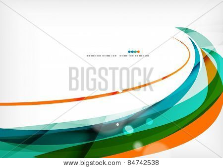 Green and orange lines modern abstract background. Abstract template