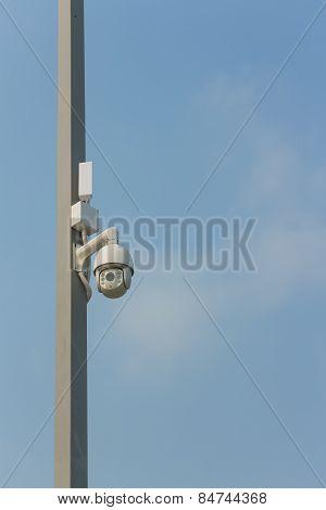 CCTV on the pole