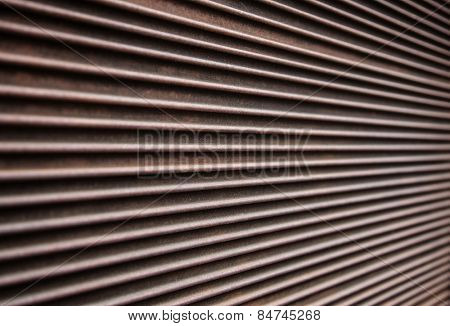 Metal plate lines background texture.