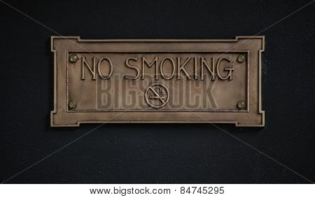 No smoking sign on dark background