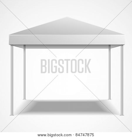 detailed illustration of a blank canopy tent, eps10 vector