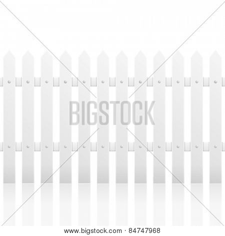 detailed illustration of a white fence with reflection, eps10 vector
