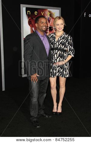 LOS ANGELES - FEB 24:  Alfonso Ribeiro, Angela Unkrich at the