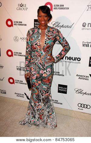 LOS ANGELES - FEB 22:  Regina King at the Elton John Oscar Party 2015 at the City Of West Hollywood Park on February 22, 2015 in West Hollywood, CA