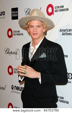 LOS ANGELES - FEB 22:  Cody Simpson at the Elton John Oscar Party 2015 at the City Of West Hollywood Park on February 22, 2015 in West Hollywood, CA