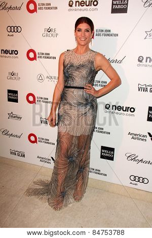 LOS ANGELES - FEB 22:  Kate Walsh at the Elton John Oscar Party 2015 at the City Of West Hollywood Park on February 22, 2015 in West Hollywood, CA