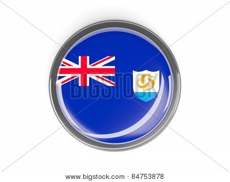 Round Button With Flag Of Anguilla