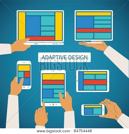 Vector Concept Of Modern Adaptive Responsive Web And Application Design