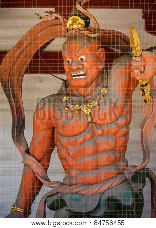 Nio (Benevolent Kings) at Shitennoji Temple in Osaka Japan