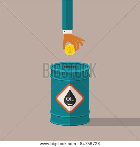 Vector Concept Of Oil Industry Pricing And Costs